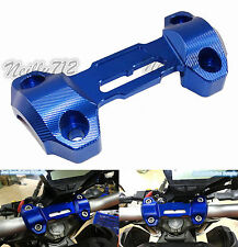 Handlebar Risers Mount Clamp Upper Cover Blue Fit 2013-2016 YAMAHA MT-09 FZ-09