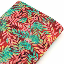 FQ. Water Colour Tree Leaf Leaves Printed Japanese 100% Cotton Fabric Dress J156