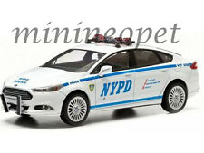 GREENLIGHT 86052 2013 13 FORD FUSION NYPD NEW YORK POLICE CAR 1/43 WHITE