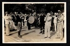 Doncaster - 1911 Coronation Comic Band - real photographic postcard