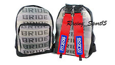 JDM Bride Newest Version Extra Large Backpack Sparco Racing Harness Straps COOL
