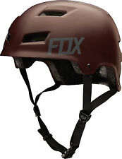 Fox Transition 2016 Hardshell Helmet MTB BMX Dirt Jump - Matt Burgundy Small