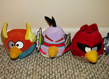 "2012 Lot of 3 Angry Birds Space Lazer, Lightning, Red Terence with Tags 6"" Plush"