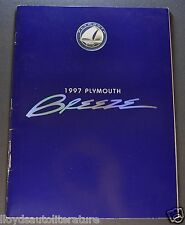 1997 Plymouth Breeze Catalog Sales Brochure Excellent Original 97