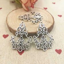 Retro style charm 4pcs silver Alloy Earring Connectors 25*34mm@12,Jewelry Making