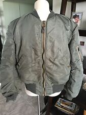RARE! 1950s Gray USAF MA-1 FLIGHT JACKET US Air Force Mil. Uniform Sz Med REAL!!