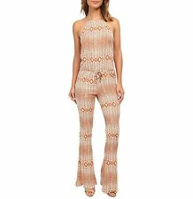 CHASER HALTER JUMPSUIT $154 NWT Geo Print Boho Hippie 70s Trend Festival XS