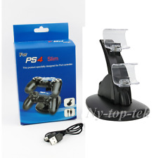 Dual Controller LED Charger Dock Station USB Charging Stand For PlayStation PS4
