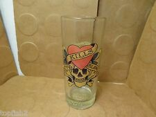 Love Kills Slowly Hi Ball Glass Tumbler, Signed Ed Don Hardy Designs (Used/EUC)