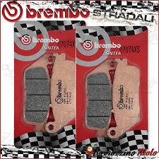 4 FRONT BRAKE PADS BREMBO SINTERED 07074XS SUZUKI BURGMAN ABS 650 2015
