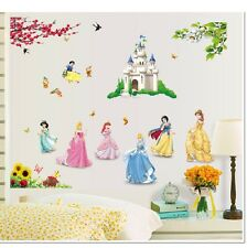 Princess Castle Wall Stickers Decals Snow White Girl Paper Mural Home Art Decor