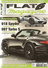 FLAT 6 242 PORSCHE CAYMAN R 911 S 2.0 997 CLUB COUPE 911 2.7 SPORTOMATIC 918 S