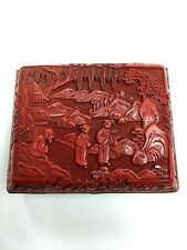 Real Antique Chinese Cinnabar Lacquer Box