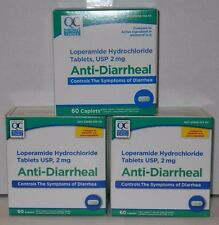 Quality Choice Loperamide HCL Caplets Anti- Diarrheal, 2mg 60ct - 3 Pack