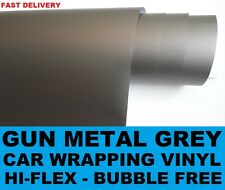 Matte Gun Metal Grey Wrap - 1.52 x 3 Meters - Bubble Free Car Wrapping Vinyl