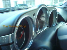 Fits NISSAN 350Z 2003-2009 CHROME DIAL RINGS SPEEDO SURROUNDS