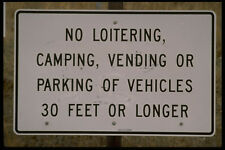 363078 No Loitering Camping Vending Or Parking Of Vehicles A4 Photo Print
