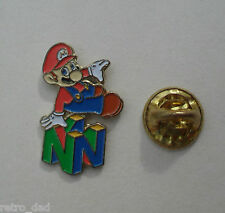 Nintendo SUPER MARIO N64 LOGO Vintage Enamel METAL PIN BADGE Pins NES Club N 64