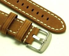 22mm Brown HQ Crazy horse Leather Replacement Watch Strap - Citizen Eco-Drive 22