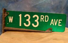 W 133rd Ave Aluminum Street/Road Sign 2 Sided w/Pole Bracket 20 x 6 Chicago S270