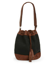 AEROPOSTALE Womens Bucket Bag Cape Juby Textured Bag w- Faux Leather Trim NWT