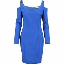 Versace Jeans BlUE Cold Shoulder Cocktail Dress UK8  IT40