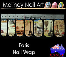Paris Nail Art Wrap Full Cover Stickers Holiday france Eiffel tower