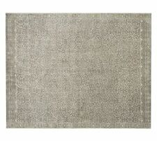 Pottery Barn Persian 9'X12' Luna Tonal Gray wool area rugs carpet RUGS EDH