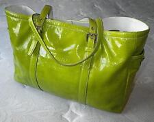 COACH FINEST CALF PATENT MINT GREEN LEATHER LG BUSINESS GALLERY TOTE BAG PURSE