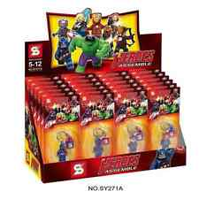 R4404 SUPER HEROES AVENGERS LEGO LIKE MINI FIGURE KEYCHAIN SY271A LOT OF 6