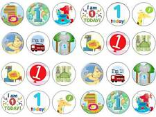 24 first 1st birthday boy bun fairy cupcake toppers birthdays party edible paper