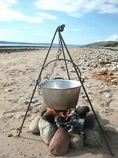 Short light Cooking Camping Tripod, dutch oven bush craft campfire canoe Scouts