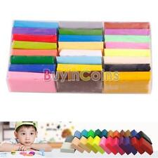 24PCS Colorful fimo Effect Polymer Clay Blocks Soft SA