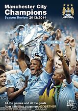 MANCHESTER CITY CHAMPIONS DVD Premiership Official Season Review 2013 and 2014