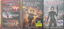 RESIDENT EVIL 1-2-3-4-5: Apocalypse-Extinction-Afterlife-Retribution- NEW DVD's