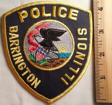 BARRINGTON ILLINOIS POLICE PATCH (HIGHWAY PATROL, SHERIFF, EMS)