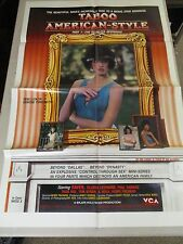 Vtg 1 sheet 27x41 Movie Poster Taboo American Style Ruthless Begining XRATED 85'