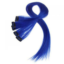 5pcs Clip-on In Hair Extensions Straight 25 Inch Long -Dark Blue LW