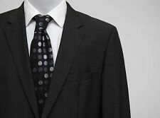 MENS HUGO BOSS SUIT JACKET 100 % WOOL ASPHALT GREY SIZE 40 IN EXCELLENT