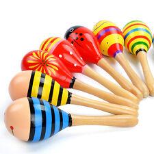 Kinder Holzspielzeug Lernspielzeug Rassel Musik Bildung Baby Maraca Spielzeug