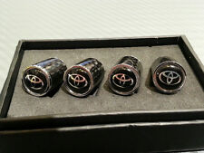 Carbon Fiber Tire Valve Caps for Toyota Black Supra Celica FRS RAV4 Corolla GT86