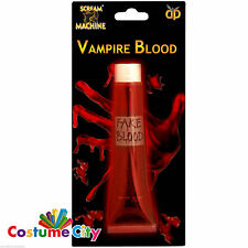 1oz Red Tube Artificial Fake Prop Vampire Blood Halloween Fancy Dress Accessory