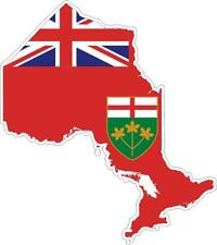 Sticker car moto map flag vinyl outside decal macbbook ontario canada