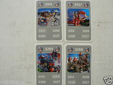 41 PLAYMOBIL KNIGHTS RIDDERS SET OF 4 CARDS KWARTET KAART, QUARTETT CARD,