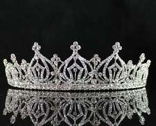 INCREDIBLE CLEAR AUSTRIAN RHIESTONE CRYSTAL HAIR TIARA CROWN BRIDAL PARTY T1760