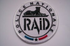 Patch Police france Police Nationale RAID en blanco ca 9cm