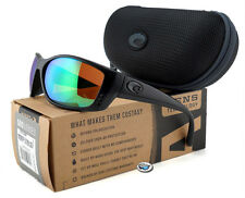 New Costa Del Mar FISCH 580P Polarized Sunglasses | Blackout / Green Mirror Lens