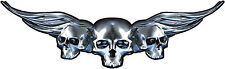 "Boat Car Truck Trailer Motorcycle Graphics Decal Vinyl Stickers Skull 25"" X 7.5"""