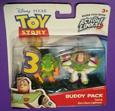 TOY STORY 3 buddy pack TWITCH + HERO BUZZ LIGHTYEAR sealed figure MISB alien bug