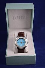 Ecclissi sterling silver woman's watch 23970 - silver case, turquoise face - NEW